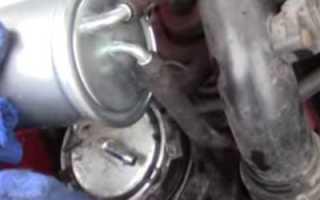 Замена топливного фильтра шкода фабия