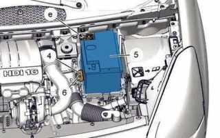 Как снять аккумулятор ситроен с3