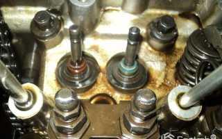 Как поменять маслосъемные колпачки не снимая головки