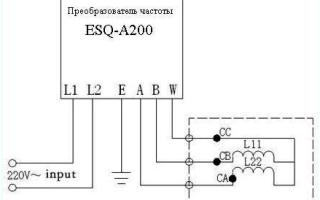 Электронная схема подключения трехфазного двигателя в однофазную сеть