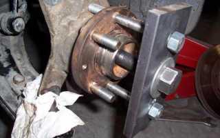 Замена подшипника передней ступицы Форд Фокус 2 своими руками