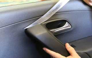 Как снять обшивку водительской двери?