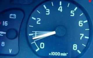 Высокие обороты двигателя на холостом ходу на моновпрыске